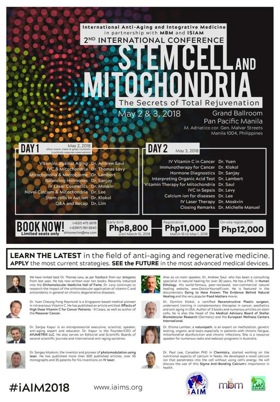 Stemcell and mitochondria conference